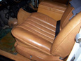 rebuilt Cognac seat from a 1972 Mercedes 600 SWB
